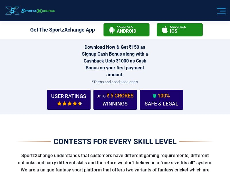 SportzXchange - Mobile - CPR - IN - DIRECT