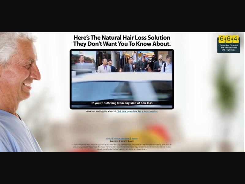 UltraFX10 - VSL - Nutra / Hair - SS - NO SEO - [US]