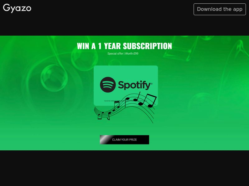 Spotify 1 Year Trial - INCENT - UK
