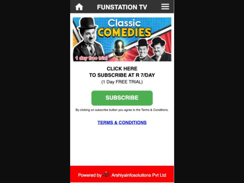 Funstation TV - 1 click - ZA - Vodacom - Streaming - Mobile