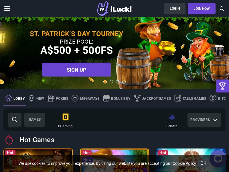 iLucki Casino [AU,BE,UAE,IE,CH] (Email Only) - CPA