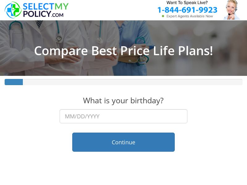 Select My Policy - Life Insurance [US] (Email,Native,Social,Banner,Push) - CPL