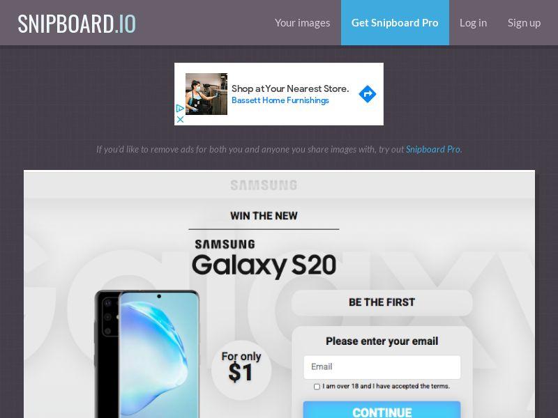 MagnificentPrize - Samsung Galaxy S20 KW - CC Submit