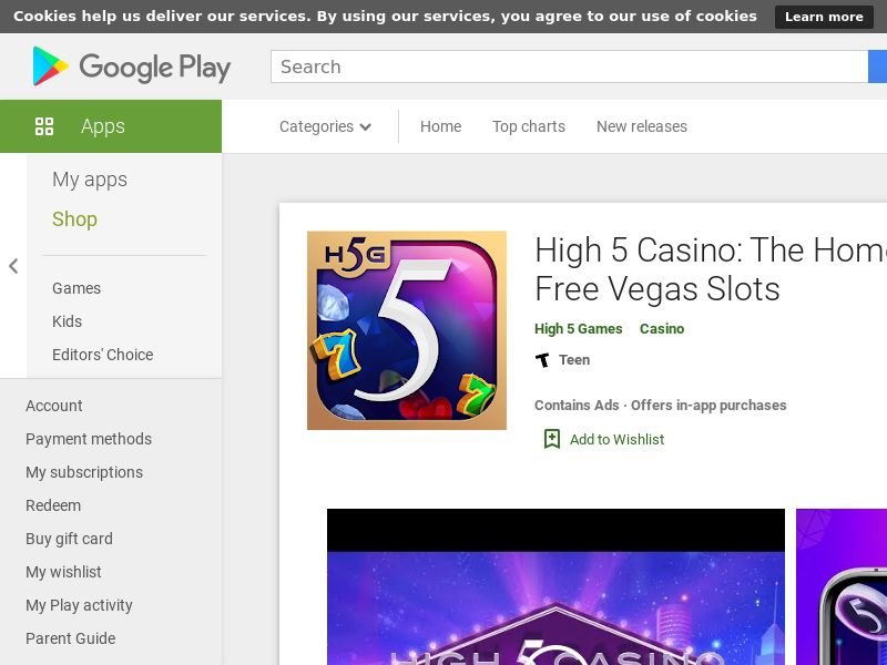 High 5 Casino CPA (Android) - ALL GEOS