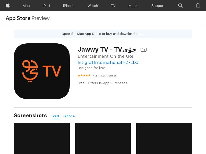 Jawwy TV - TVجوّي - KW - IOS (IDFA) (CPS=purchase/subscription)