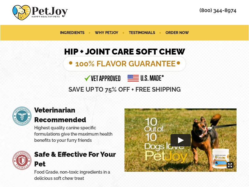 PetJoy - Joint Relief for Dogs - CPA - [US]