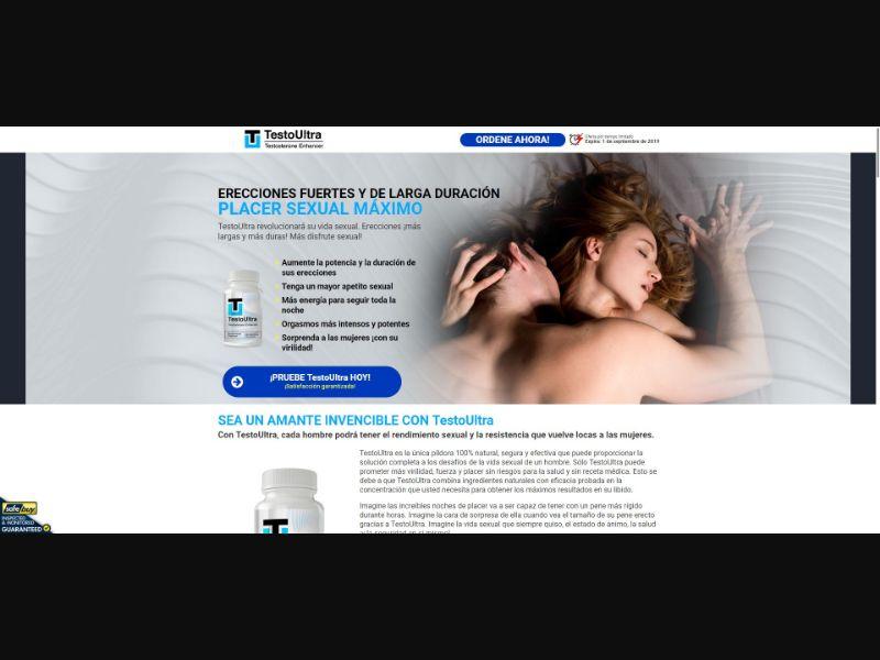TestoUltra Testosterone Enhancer - Male Enhancement - SS - [ES]