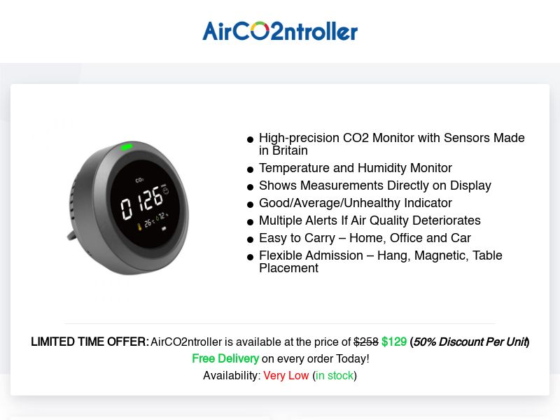 AirCO2ntroller (INTL) (CPS) (Personal Approval)