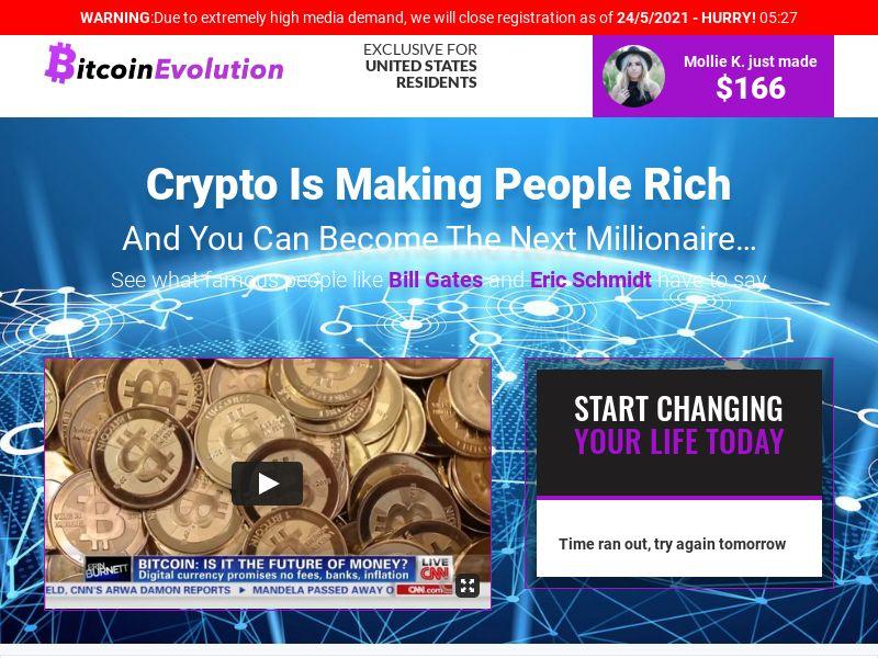 Bitcoin Evolution CPA UK, AU, NZ, NL