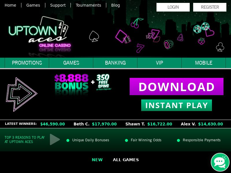 Uptown Pokies CPA 3 countries