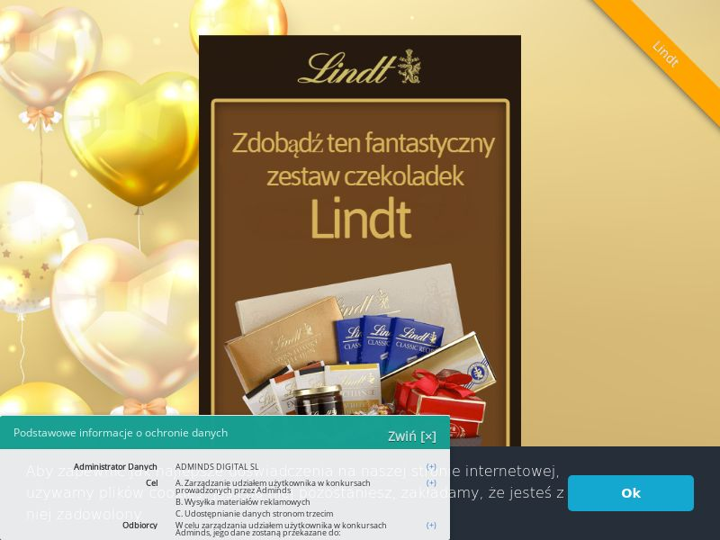 Lindt Hamper - ES (ES), [CPL], Lotteries and Contests, Single Opt-In, paypal, survey, gift, gift card, free, amazon
