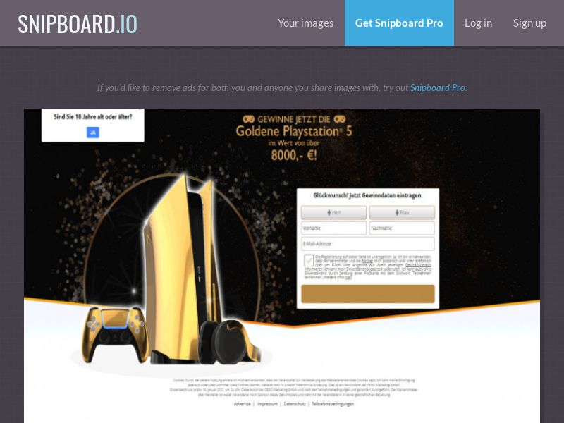 Winmarketing - Play Station 5 Gold Edition 2021 - DE