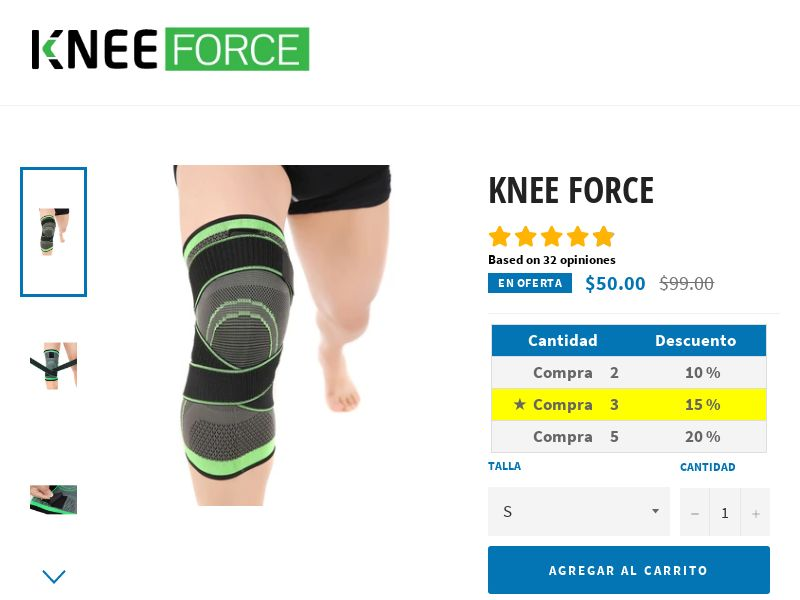 Knee FORCE - Immediate EXTRA knee support - CPA - [22 GEOs]