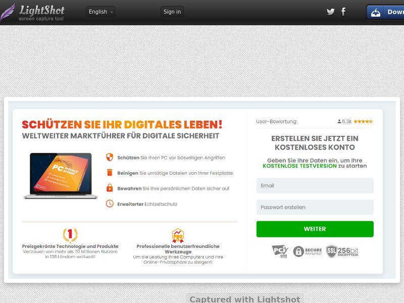 ProtectNow PC Privacy - Direct Registration (Black) (CC Trial) - Switzerland