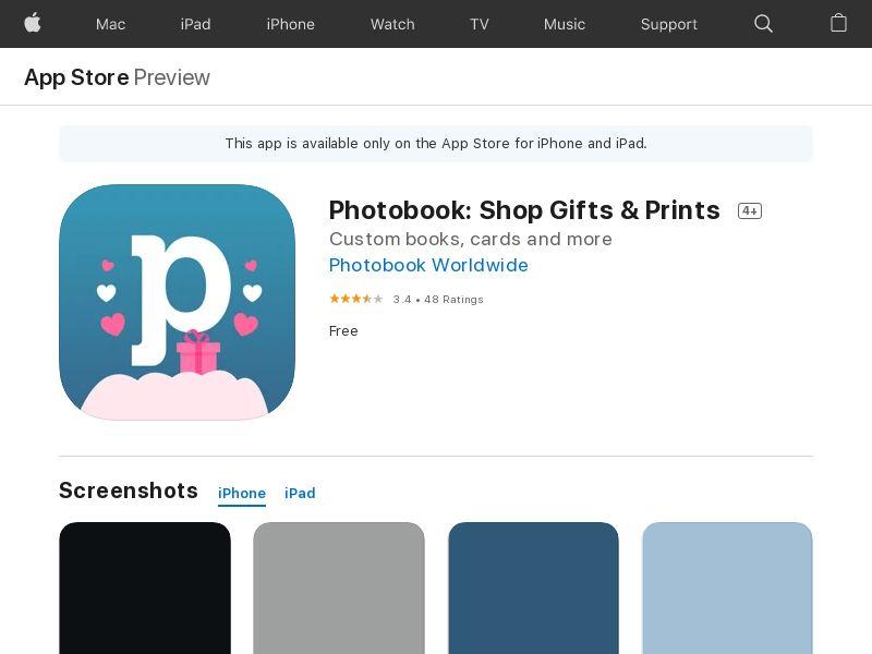 Photobook iOS VN NZ CA PH MY TH AU SG GB US ID CPA