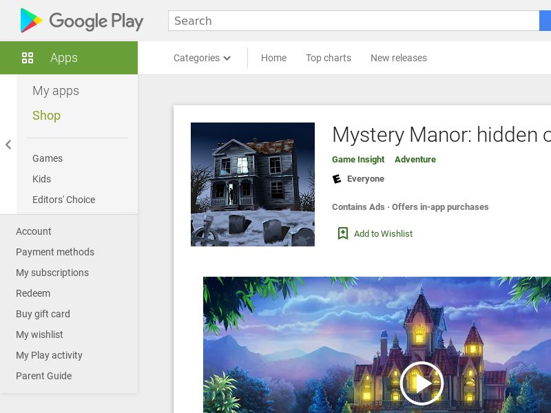 Mystery Manor: hidden objects Android CPE - DE
