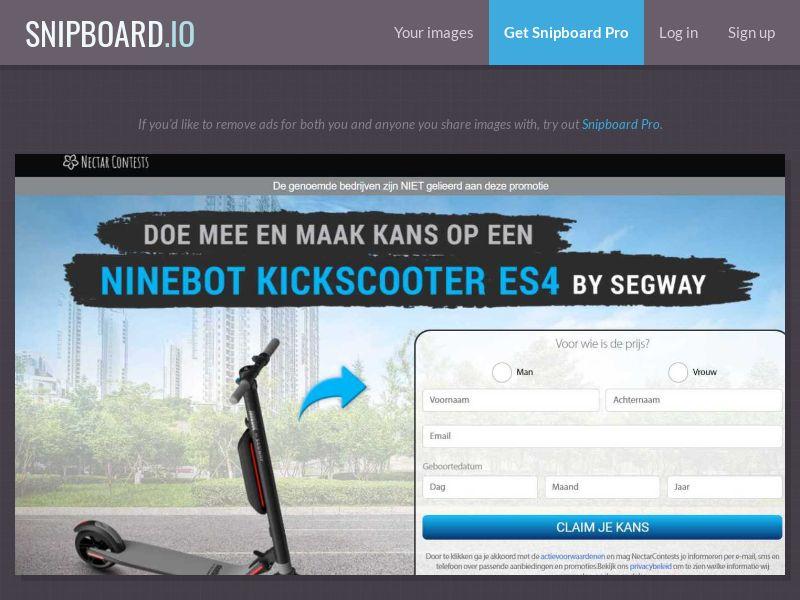 37879 - NL - NectarContests - Segway scooter (No Prelander) - SOI