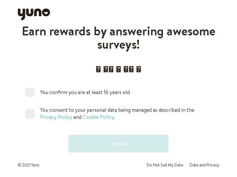 Yuno Survey - INCENT - UK