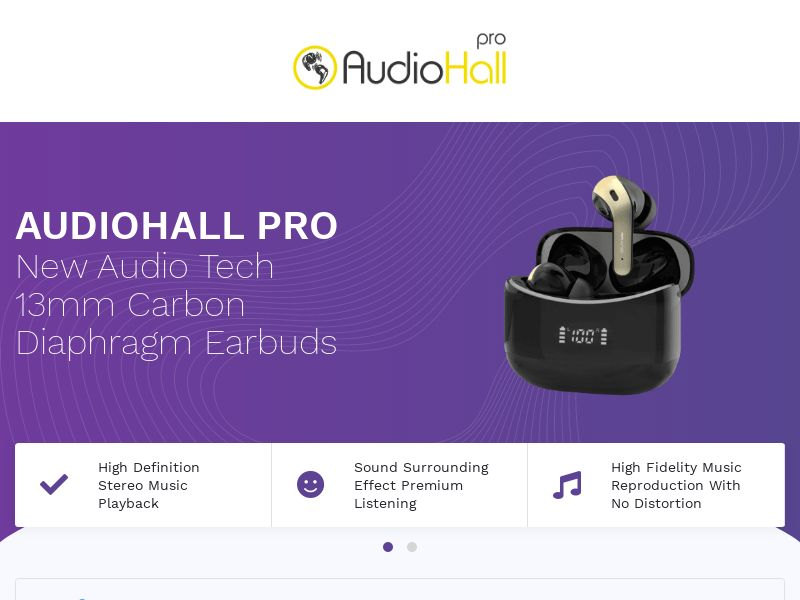 AudioHall Pro - Earbuds - CPA - [INTERNATIONAL]