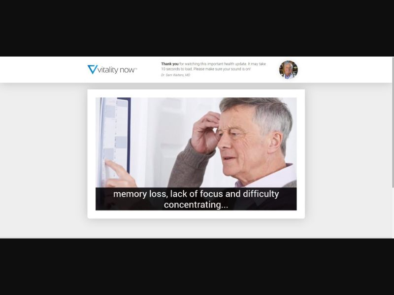 Vitality Now Youthful Brain - VSL - Brain Enhancement - SS - [US]