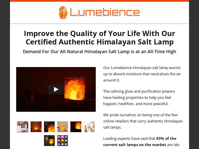 Lumebience - Himalayan Salt Lamp - CPA - [US]