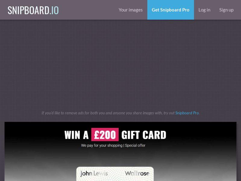Leadswinner (36706) - Win a £200 John Lewis Gift Card [UK]