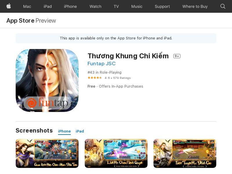 Thương Khung Chi Kiếm - iOS (VN) (KPI) (IDFA)