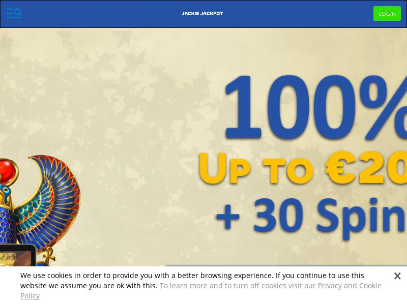 Jackie Jackpot Casino - Exclusive offer START100 - CPA | NZ, IE, SLO