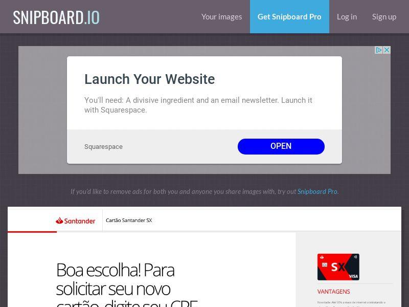 Finance - Banco Santander - CARTOES SX (LP3) BR - SOI
