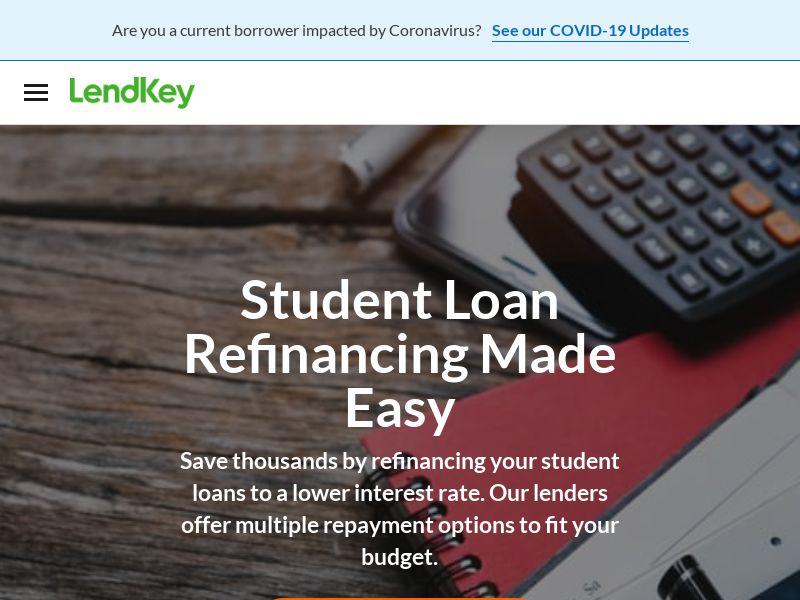 US - LendKey Student Loan Refinance - CPA
