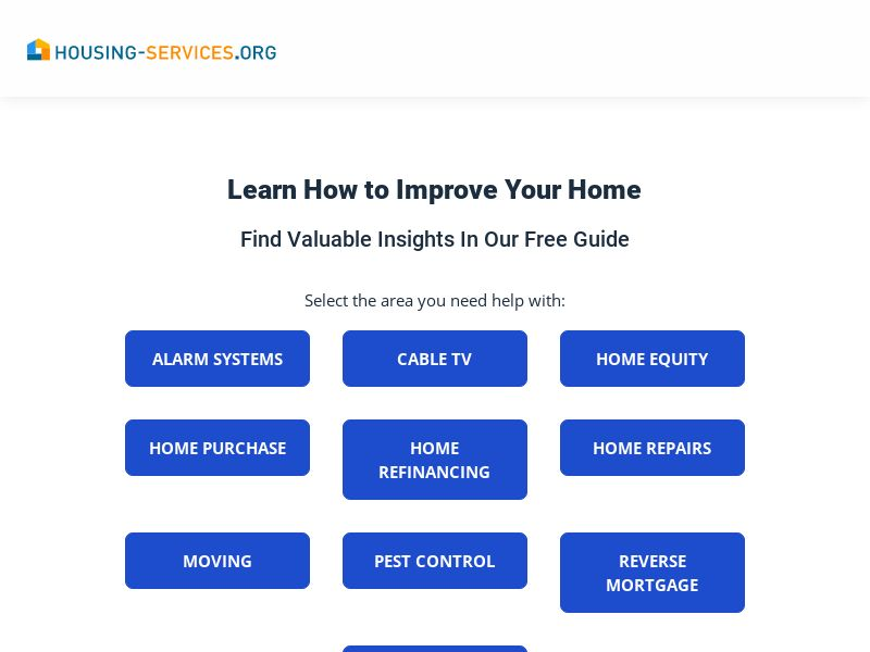 Housing Services- housing-services.org