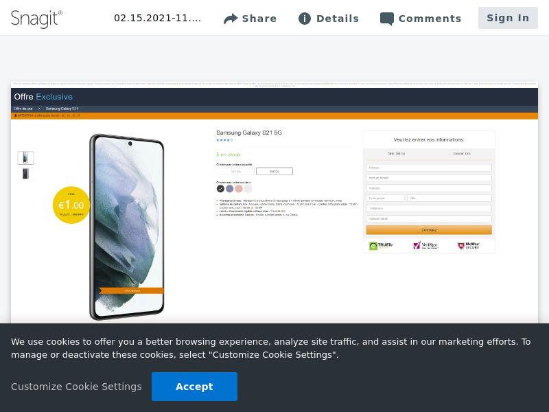 feelinglucky Samsung Galaxy S21 (Amazon)   FR