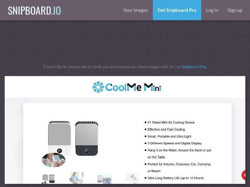 42759 - ALL - CoolMe Mini – #1 Rated Rechargeable Mini Air Cooling Device - SS