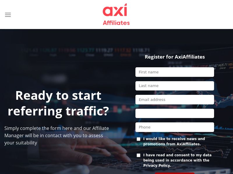 Axi Affiliates - Forex & Crypto (Tiered CPA Payouts up to $700, On-Time Payments)