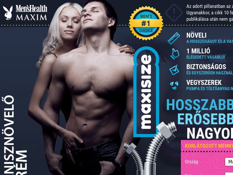 Maxisize HU - penis enlargement cream