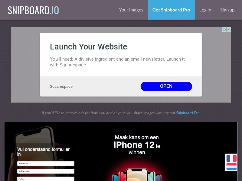 BigEntry - iPhone 12 v1 BE - CC Submit (french/dutch)