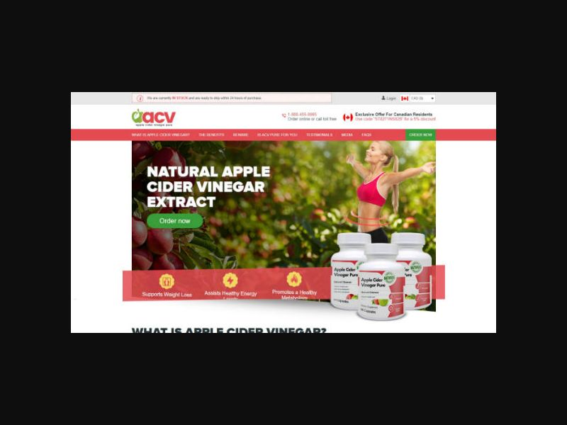 Apple Cider Vinegar - ACV Pure (US,CA)