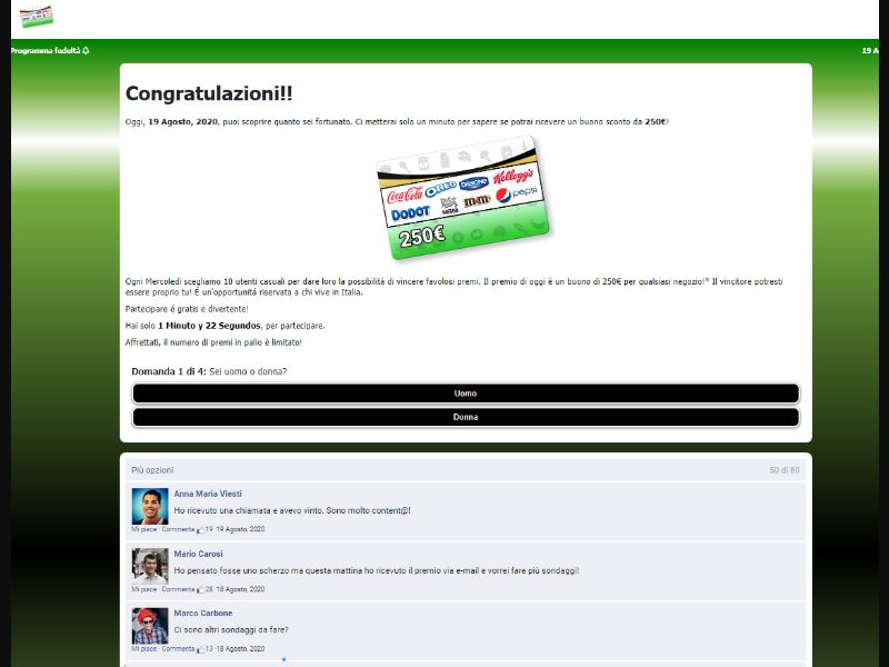 €250 gift card! [DE] - SOI registration