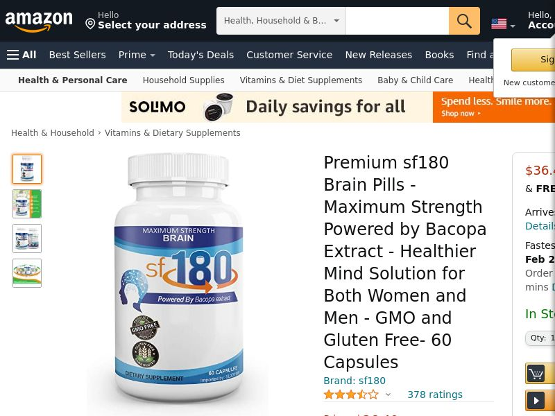 Upsell for Maximum Brain 180 (Trial w1/clickupsell) (US)