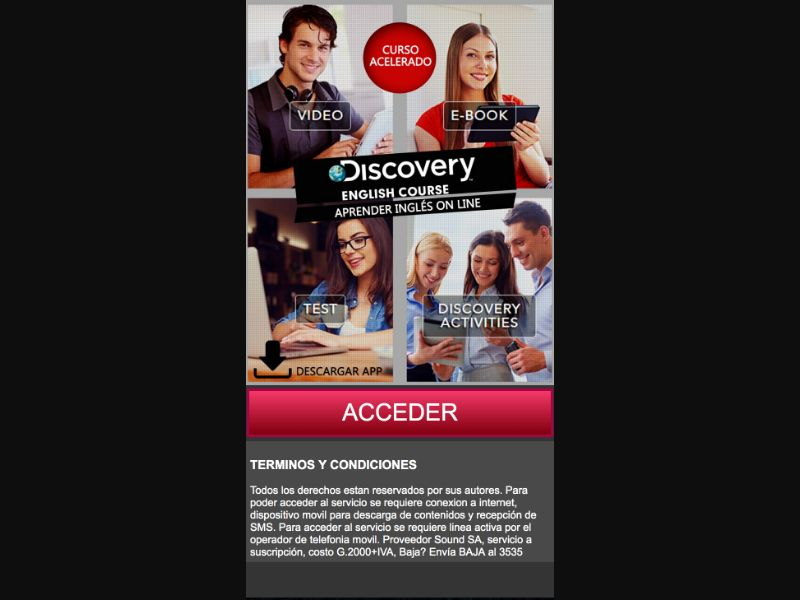 Learn English With Discovery - CPA - PY - Mobile Content - Mobile