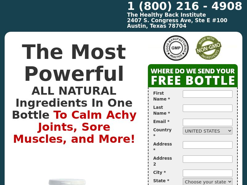 Heal-N-Soothe Pain Reliever - One Step