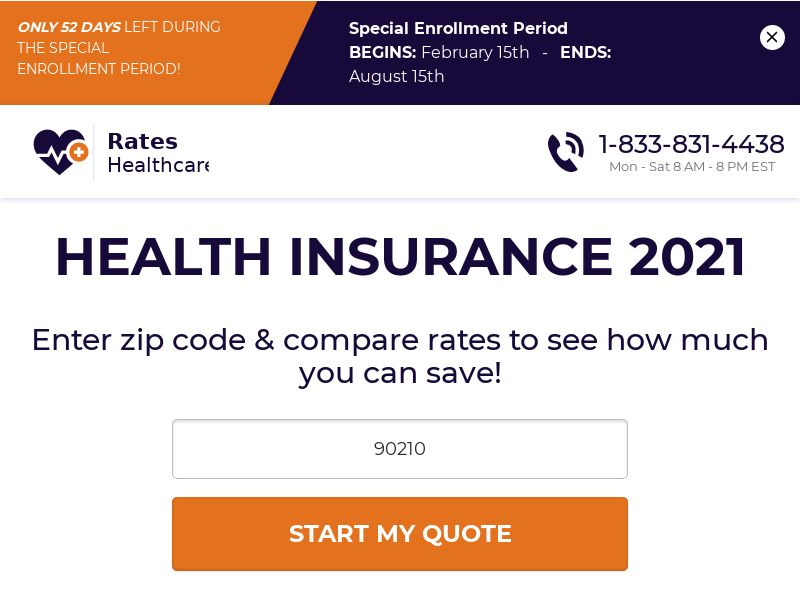 [Email Only] Rates.Healthcare - Health Insurance - SOI - [US]