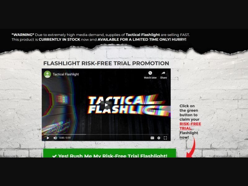 Glow Torch Risk-Free Flashlight US   CC Submit