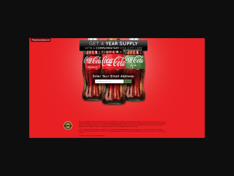 Get a Year Supply of Coke (US)