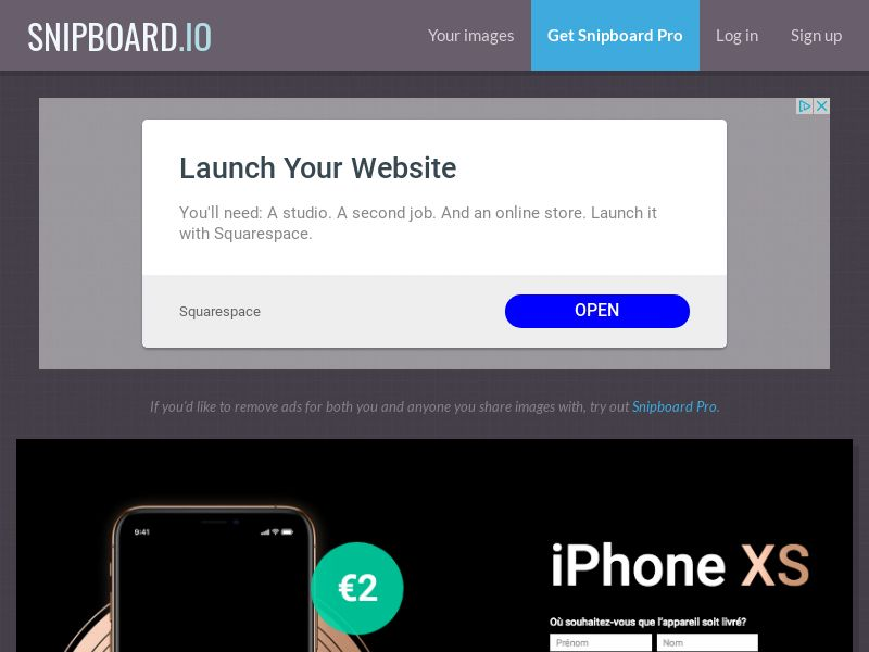 BigEntry - iPhone XS v4 FR - CC Submit