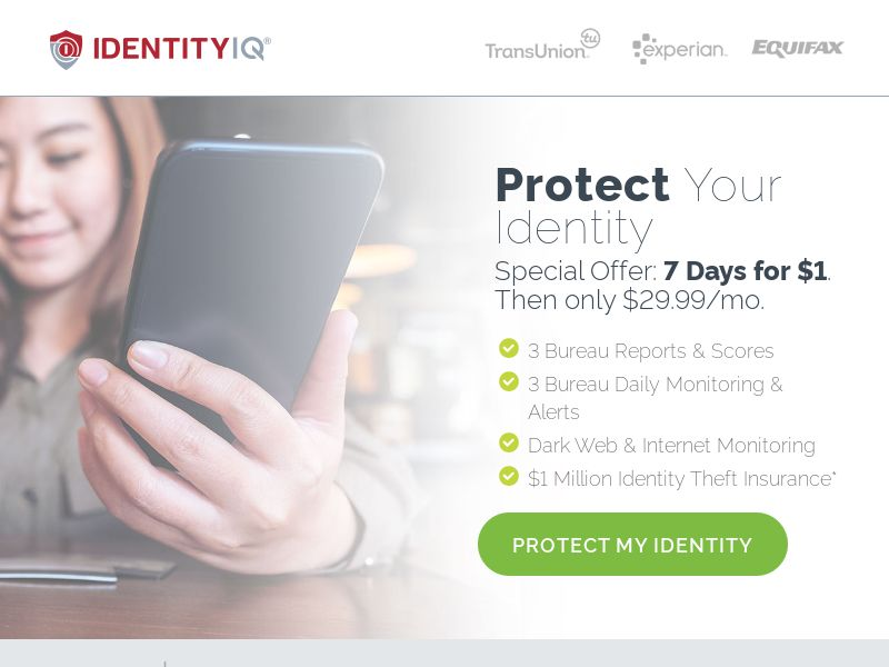 Identity Essentials - $1 7 Day Trial | US, PR