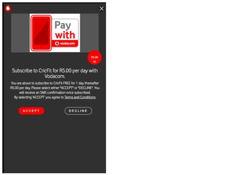 Cricfit 5 Vodacom