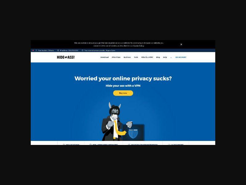 HideMyAss - VPN Service (Worldwide)