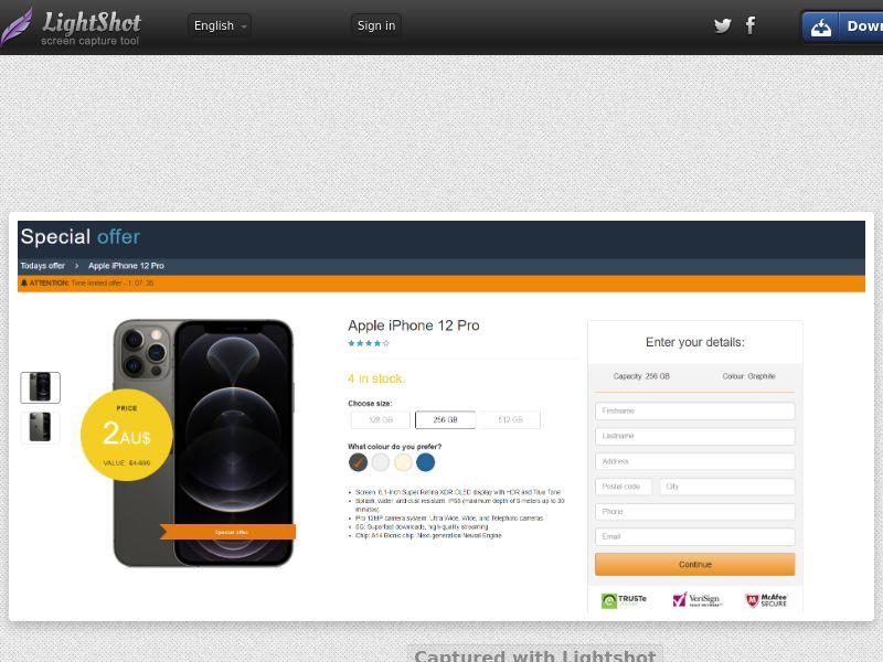 PlayMonger iphone 12 Pro Amazon (CC Trial) - Australia
