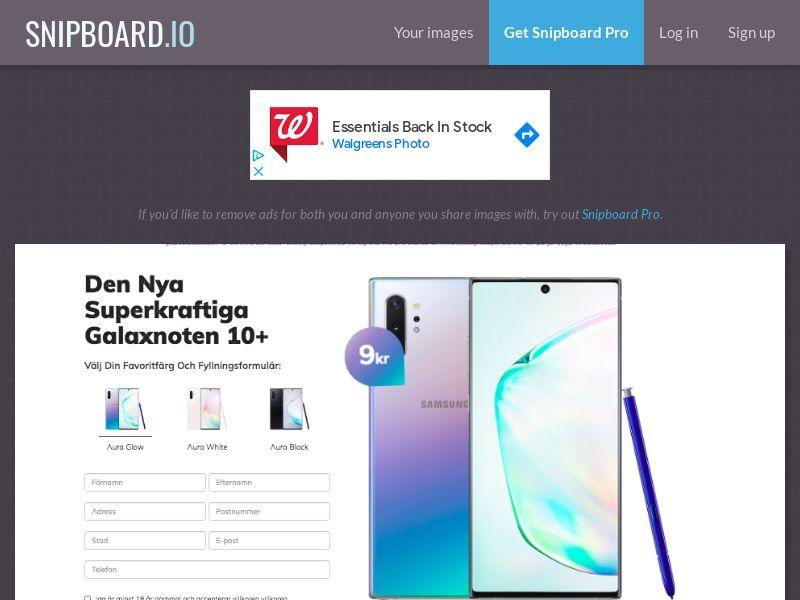 BigEntry - Samsung Note 10 Plus v1 SE - CC Submit